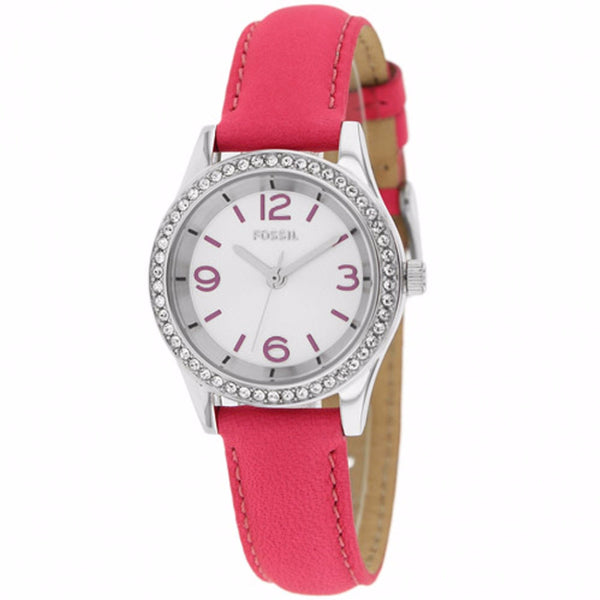 FOSSIL WOMEN'S CLASSIC PINK LEATHER WATCH BQ1426