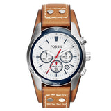 Fossil CH2986 Coachman Chronograph Dial Tan Leather Men's Watch - BrandNamesWatch.com