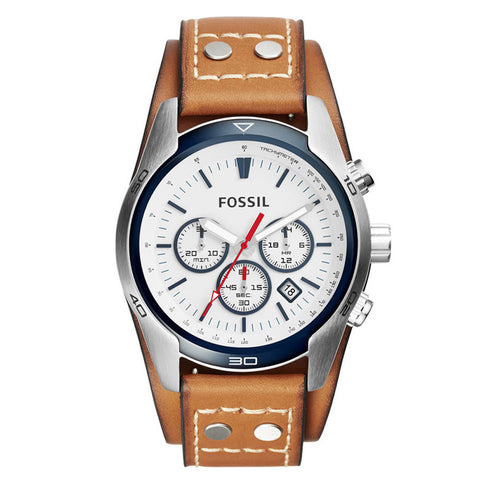 Fossil CH2986 Coachman Chronograph Dial Tan Leather Men's Watch
