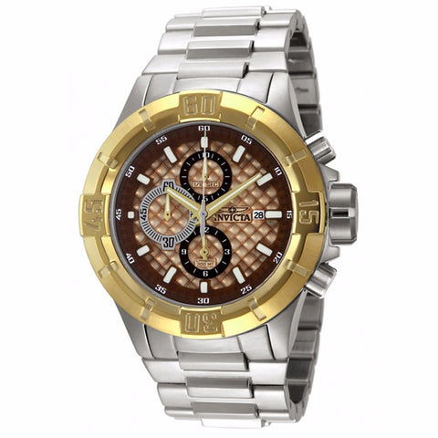 INVICTA MEN'S PRO DIVER CHRONOGRAPH ROSE TEXTURED DIAL STAILESS STEEL WATCH 12372