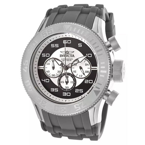 INVICTA Pro Diver XL Chronograph Black and White Dial Silicone Strap Men's Watch