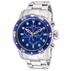 INVICTA MEN'S PRO DIVER ANALOG DISPLAY BLUE DIAL STAINLESS STEEL CHRONOGRAPH WATCH  15082