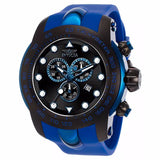 INVICTA MEN'S PRO DIVER CHRONOGRAPH BLACK DIAL BLUE SILICONE BAND WATCH 17810 - BrandNamesWatch.com