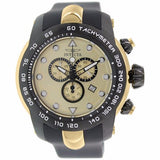 INVICTA MEN'S PRO DIVER CHRONOGRAPH GOLD DIAL BLACK SILICONE BAND WATCH 17811 - BrandNamesWatch.com