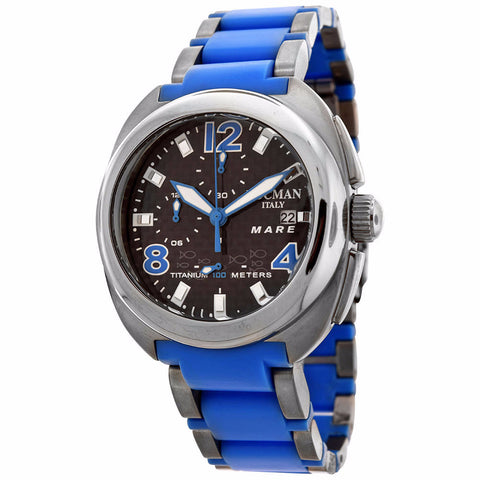 Locman Men's Mare Collection Titanium Blue Watch