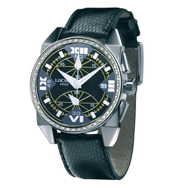 Locman Cavallo Pazzo Mother of Pearl Dial and Black Leather Band Watch