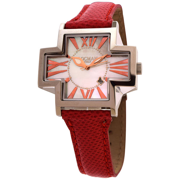 Locman Italy Plus Ladies Red Karung Snake Strap Watch