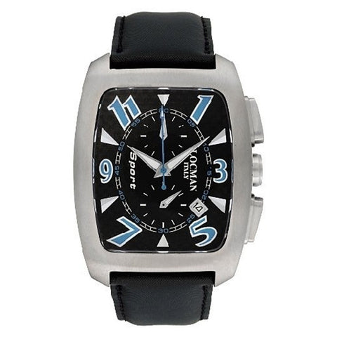 Locman Titanio Tonneau Chronograph Black Tecnoraso Strap Men's Watch