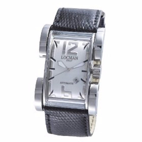 Locman Men's Watches Latin Lover Silver Dial Black Reptile Band Automatic Watch