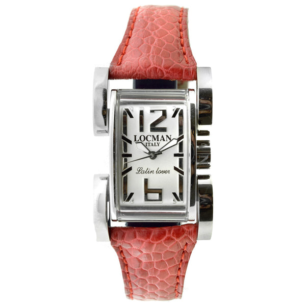 Locman Italy Latin Lover Watch Red Leather Steel Case
