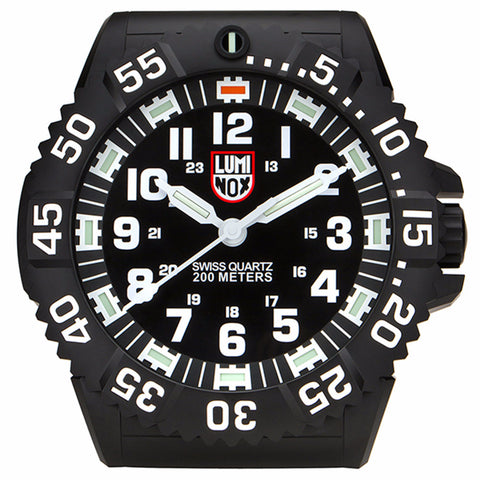 Luminox Wall Clock Black Plastic Quartz