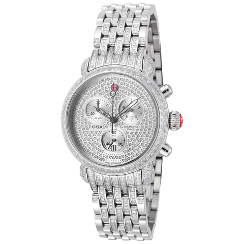 Michele Ultimate Pav̩ Diamond, Taper Diamond Bracelet Watch  MWW03C000504