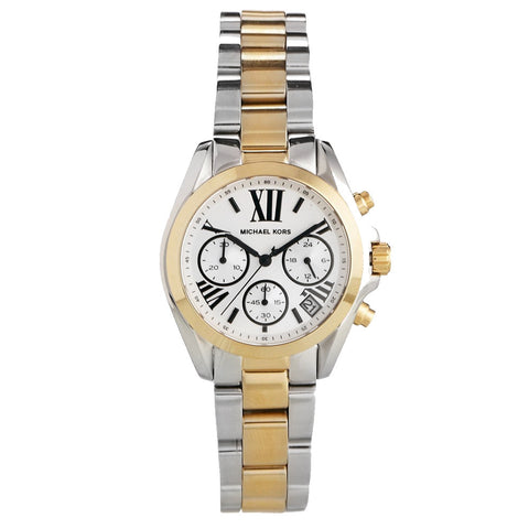 MICHAEL KORS Bradshaw Chronograph Silver Dial Two-tone Ladies Watch MK-MK5912
