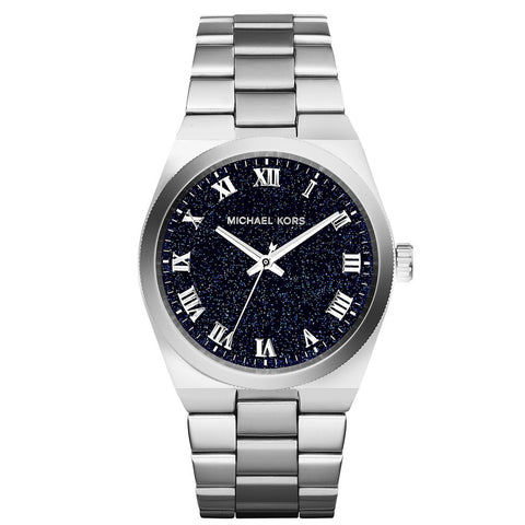MICHAEL KORS Channing Midnight Blue Shimmer Dial Stainless Steel Ladies Watch MK-MK6113