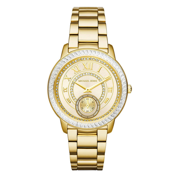 MICHAEL KORS Madelyn Champagne Dial Gold-tone Ladies Watch MK-MK6287