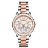 MICHAEL KORS Madelyn Mother of Pearl Dial Two Tone Stainless Steel Ladies Watch MK-MK6288 - BrandNamesWatch.com