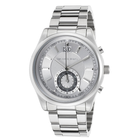 MICHAEL KORS Aiden Chronograph Gunmetal Dial Stainless Steel Men's Watch MK-MK8417