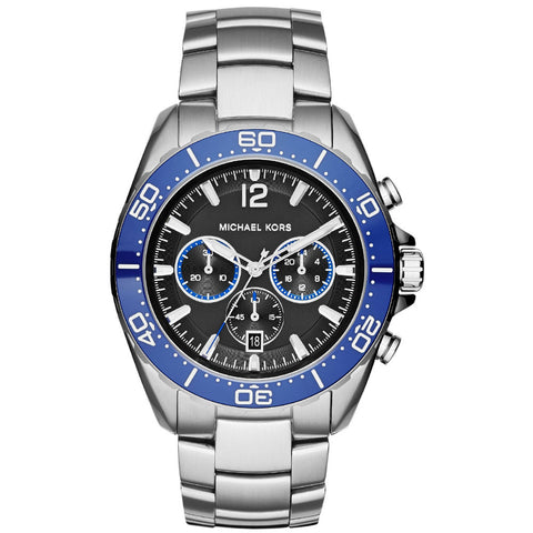 MICHAEL KORS Windward Chronograph Black Dial Stainless Steel Men's Watch MK-MK8422I