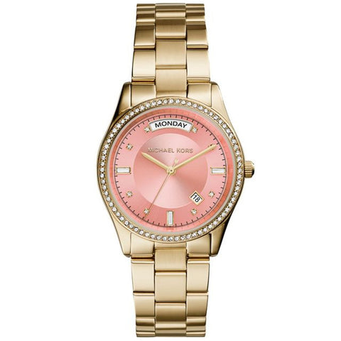 MICHAEL KORS COLETTE GOLD-TONE BLUSH PINK DIAL WOMANS WATCH MK6143