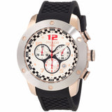 MULCO Prix White Dial Chronograph Black Silicone Men's Watch MW2-6313-021 - BrandNamesWatch.com
