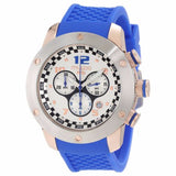 MULCO Prix White Dial Chronograph Blue Silicone Men's Watch MW2-6313-041 - BrandNamesWatch.com