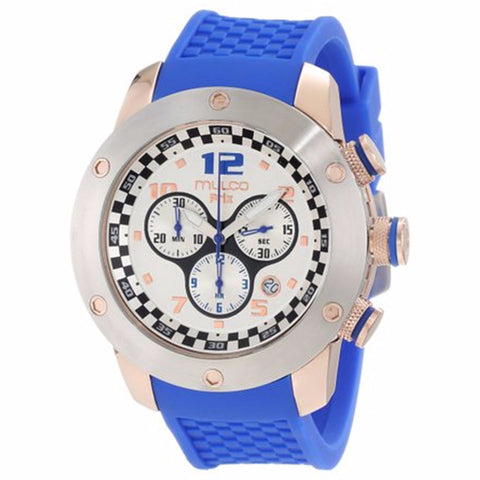 MULCO Prix White Dial Chronograph Blue Silicone Men's Watch MW2-6313-041