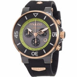 MULCO Ilusion Grey and Green Dial Chronograph Rubber Unisex Watch MW3-11009-025 - BrandNamesWatch.com
