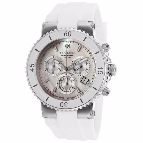 MULCO Blue Marine White Dial White Silicone Ladies Watch MW3-70604-011