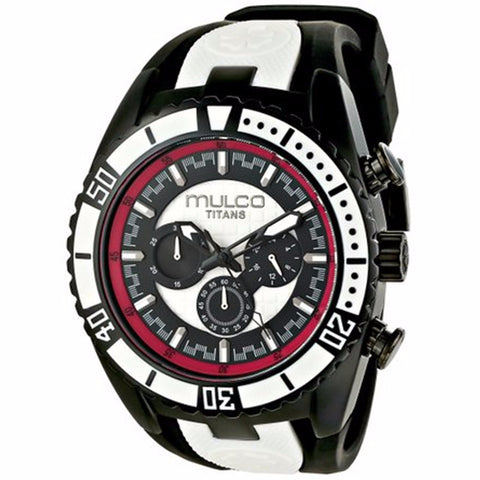 MULCO Titan White Dial Black and White Silicone Men's Watch MW5-1836-028