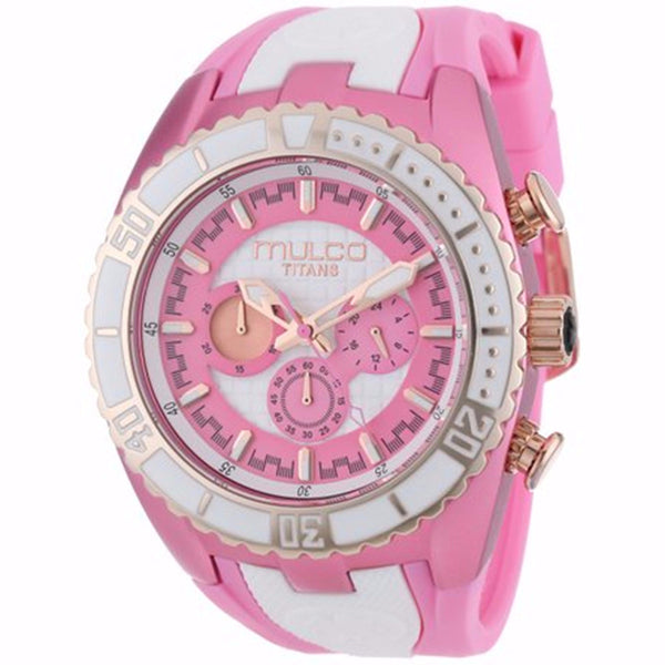 MULCO Titans Wave Chronograph Pink and White Dial Woman Watch MU-MW5-1836-083