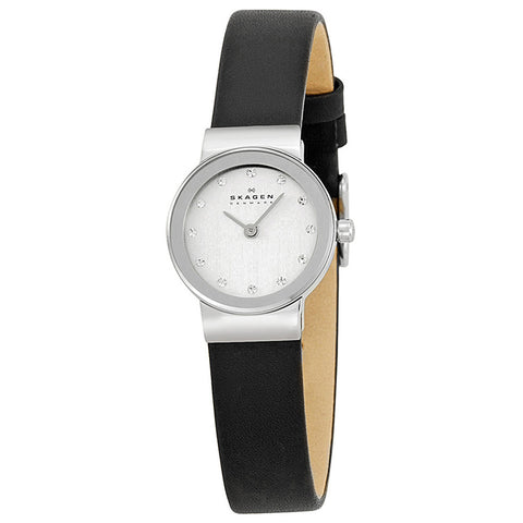 SKAGEN Ultra Slim Chrome Dial Swarovski Crystal Ladies Watch PRSK1038
