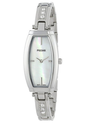 PULSAR Mother of Pearl Dial Stainless Steel Ladies Watch PM2055