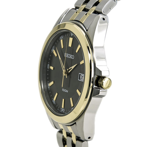 SEIKO GREY DIAL TWO-TONE MEN'S WATCH SGEG90
