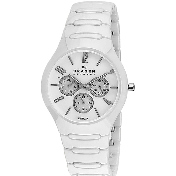 SKAGEN White Ceramic Multifunction Ladies Watch 817SXWC1