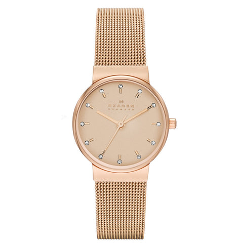 Skagen Women's Ancher Steel Mesh Rose Gold Watch SK-SKW2197
