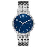 Skagen Ancher Stainless Steel Link Easy Reader Blue Dial Men's Watch SK-SKW6201 - BrandNamesWatch.com