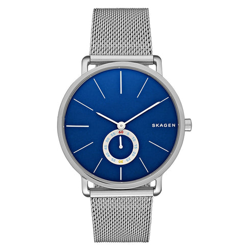 SKAGEN HAGEN BLUE DIAL & SILVER STEEL MESH STRAP MEN'S WATCH SK-SKW6230