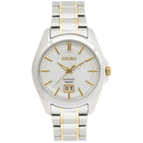 Seiko White Dial Two-tone Mens Watch SUR011