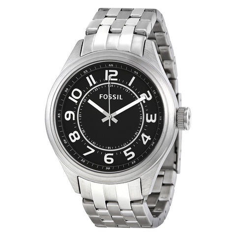 FOSSIL Asher Black Dial Stainless Steel Men's Watch FS-BQ1037