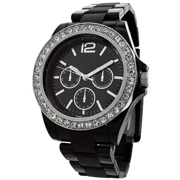 FMD by Fossil Women's Standard 3-Hand Chronograph Plastic Watch FMDCT383