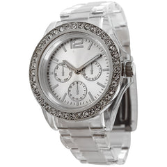 FMD by Fossil Women's Standard 3-Hand Chronograph Plastic Watch FM-CT385