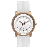 HUSH PUPPIES WHITE RUBBER STRAP AND ROSE GOLD TONE CASE MENS WATCH HP.3542M02.9506 - BrandNamesWatch.com