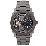 Fossil ME1128 Machine Twist Black Dial Smoke Ion-plated Men's Watch FS-ME1128 - BrandNamesWatch.com