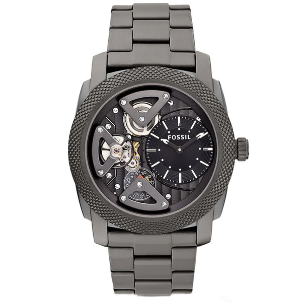 Fossil ME1128 Machine Twist Black Dial Smoke Ion-plated Men's Watch FS-ME1128