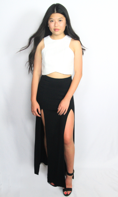 The Phoenix Cut Away Maxi Skirt