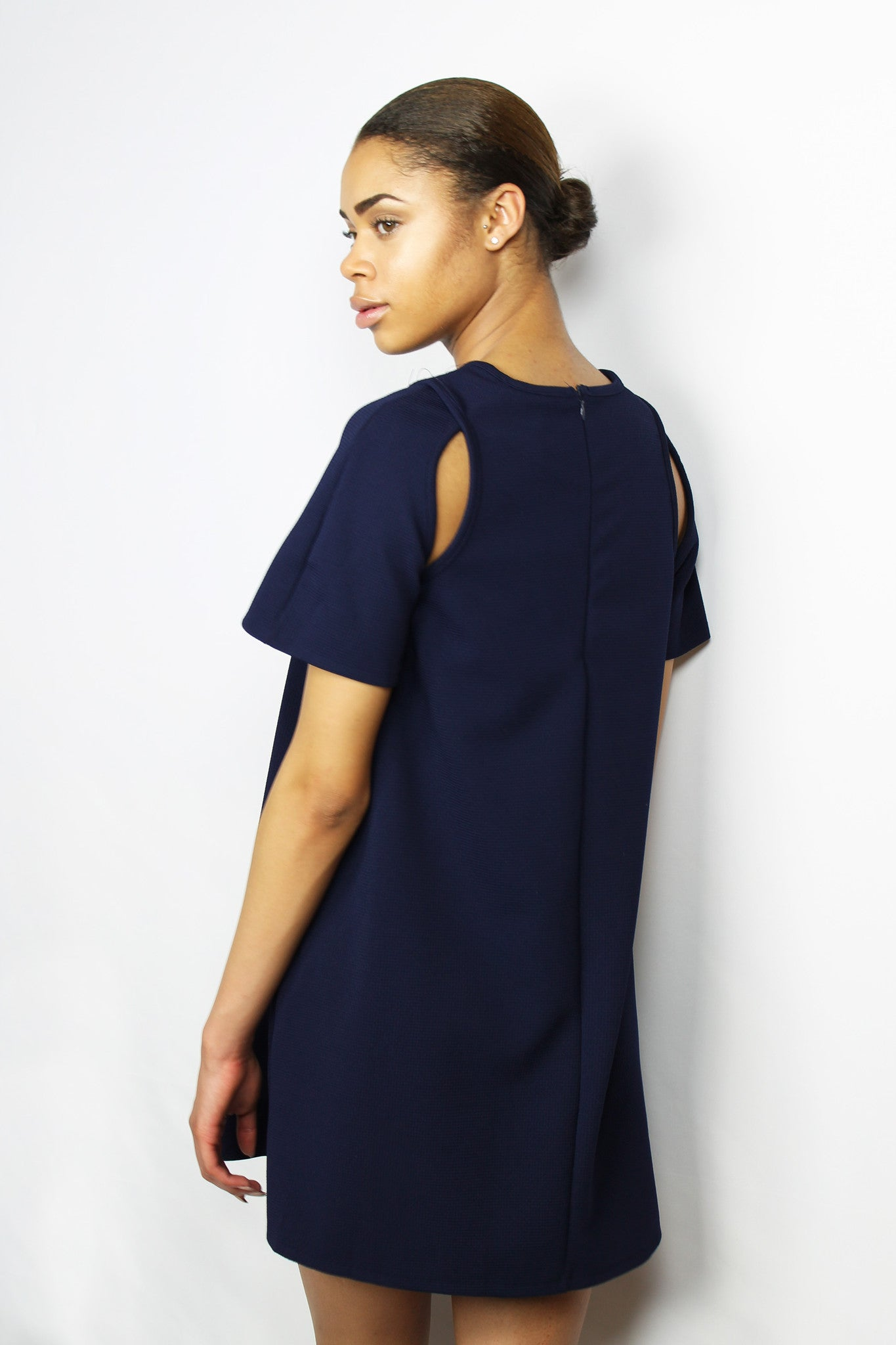 The Cold Shoulder Flare Dress