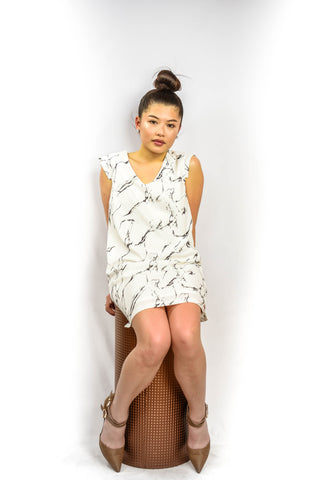 The Marbleized Shift Dress