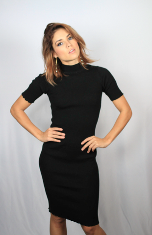 The Chic Black Midi Dress