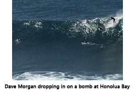 Dave Morgan surfing Honolua Bay