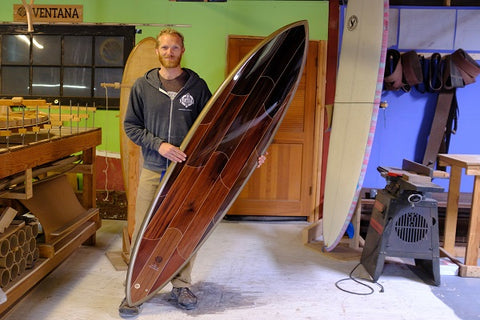 Martijn Stiphout of Ventana Surfboards. Photo by Molly Ressler